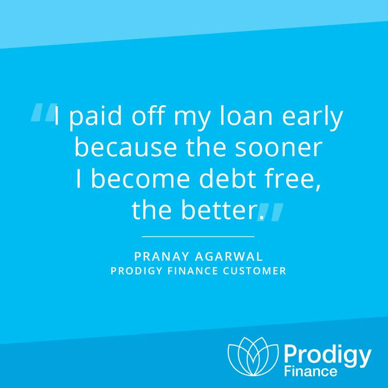 Prodigy Finance Customer Spotlight Pranay quote