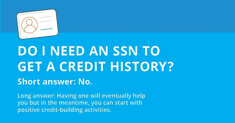 Build credit history without SSN
