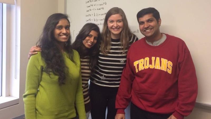 International USC Viterbi engineering students at Prodigy Finance event