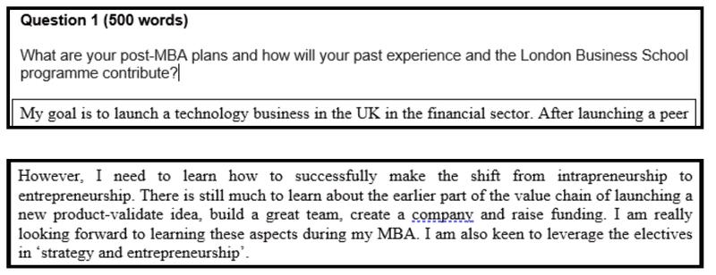 Screenshot from my essay