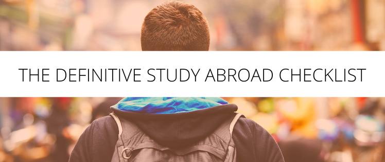 The definitive study abroad checklist  1