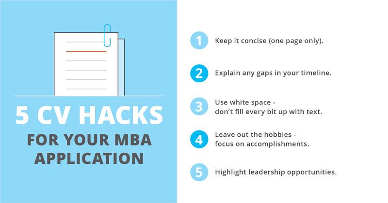 MBA CV hacks