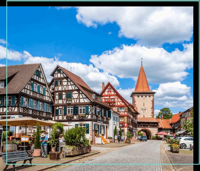 Stadt im Schwarzwald