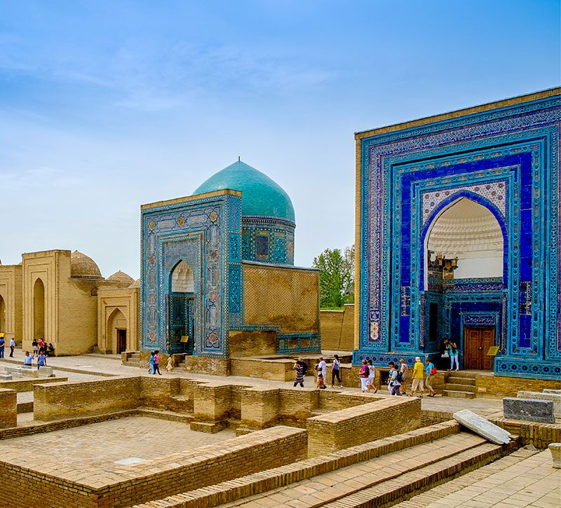 usbekistan shah e senda berge und meer