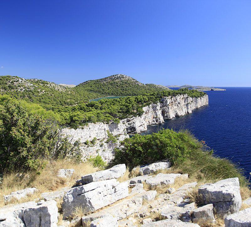 kroatien kroatien western coast of dugi otok national park suzette berge und meer