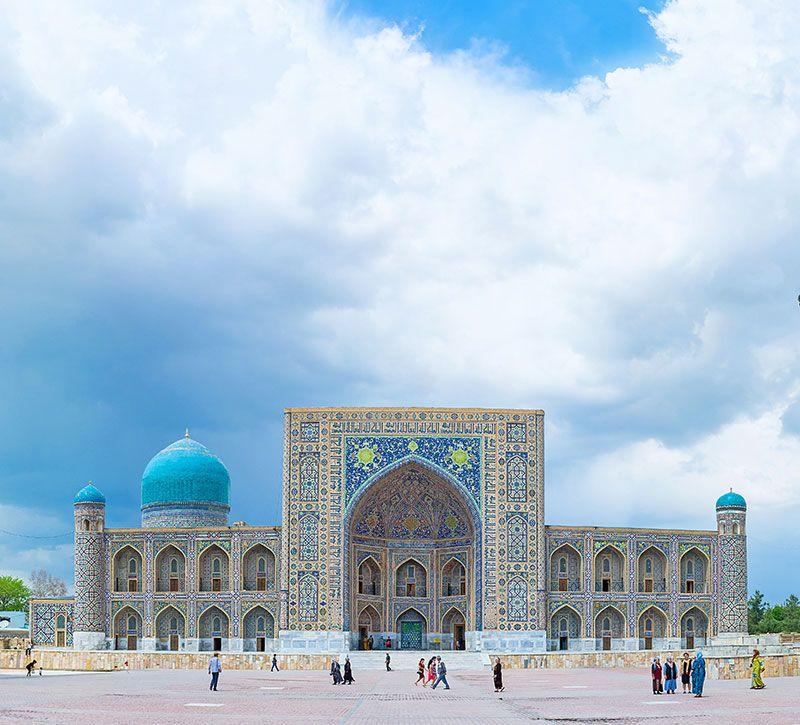 usbekistan registan berge und meer