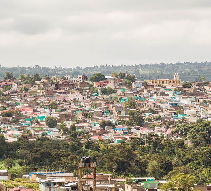 aethiopien harar berge und meer