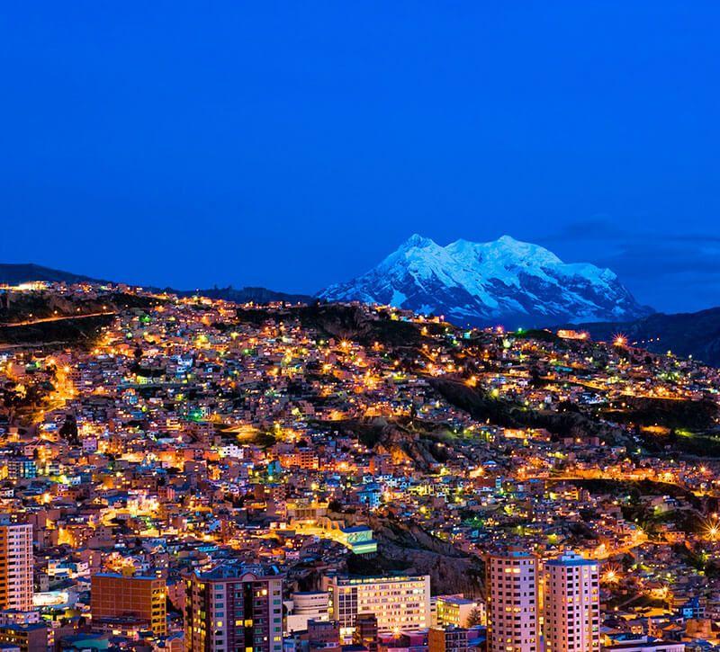 bolivien la paz berge und meer