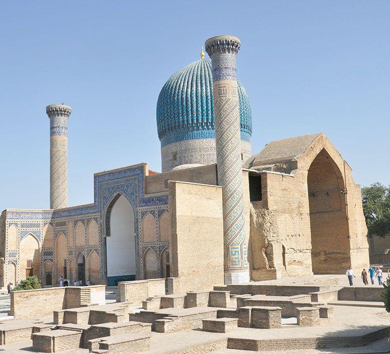 usbekistan gur emir berge und meer