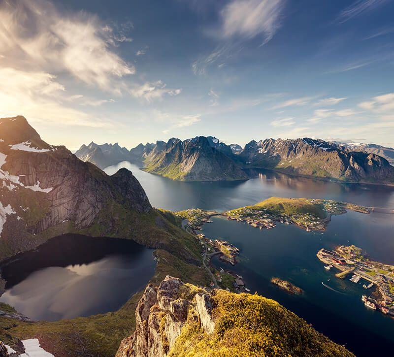 norwegen lofoten berge und meer