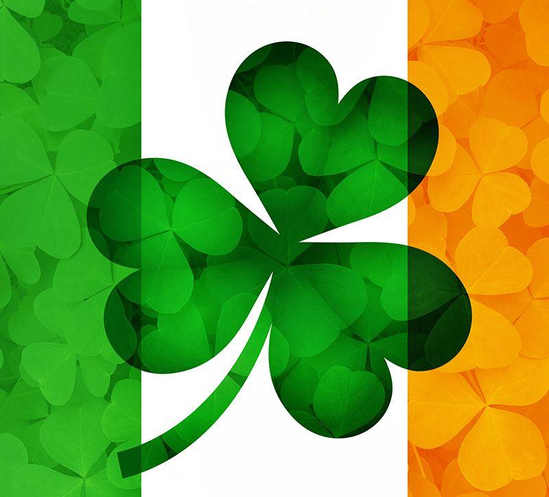 irland fahne klee berge und meer
