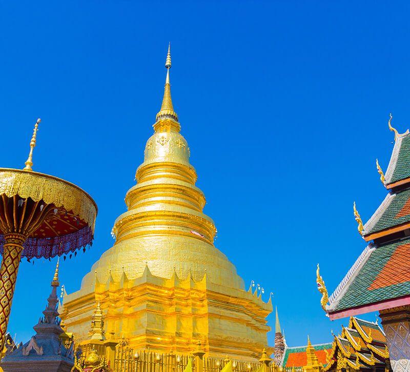 thailand lampang berge und meer