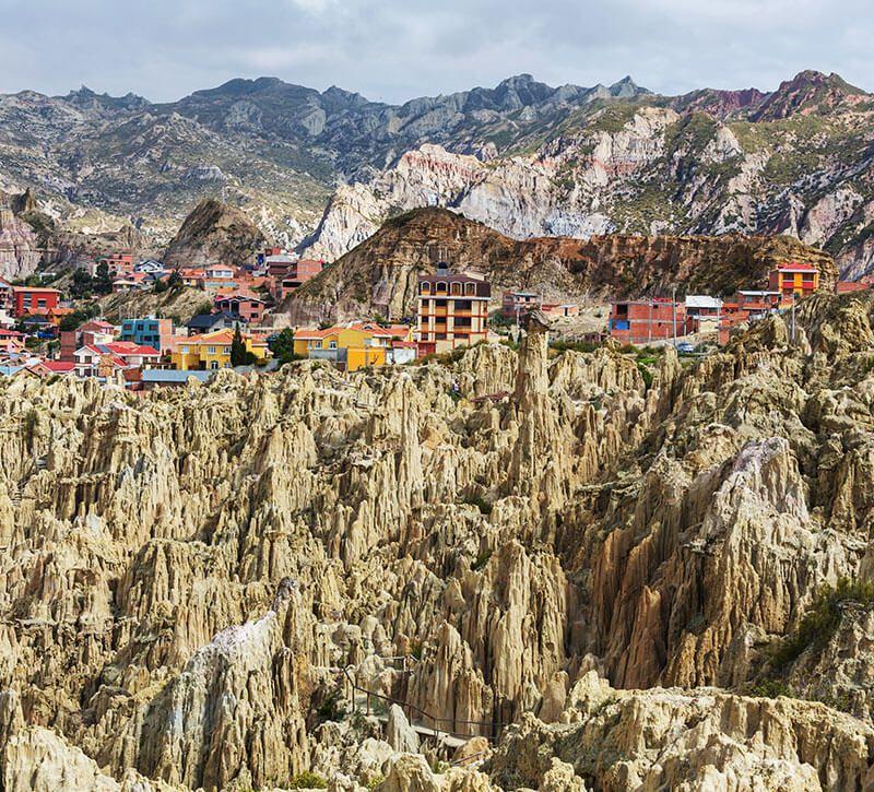 bolivien luna berge und meer
