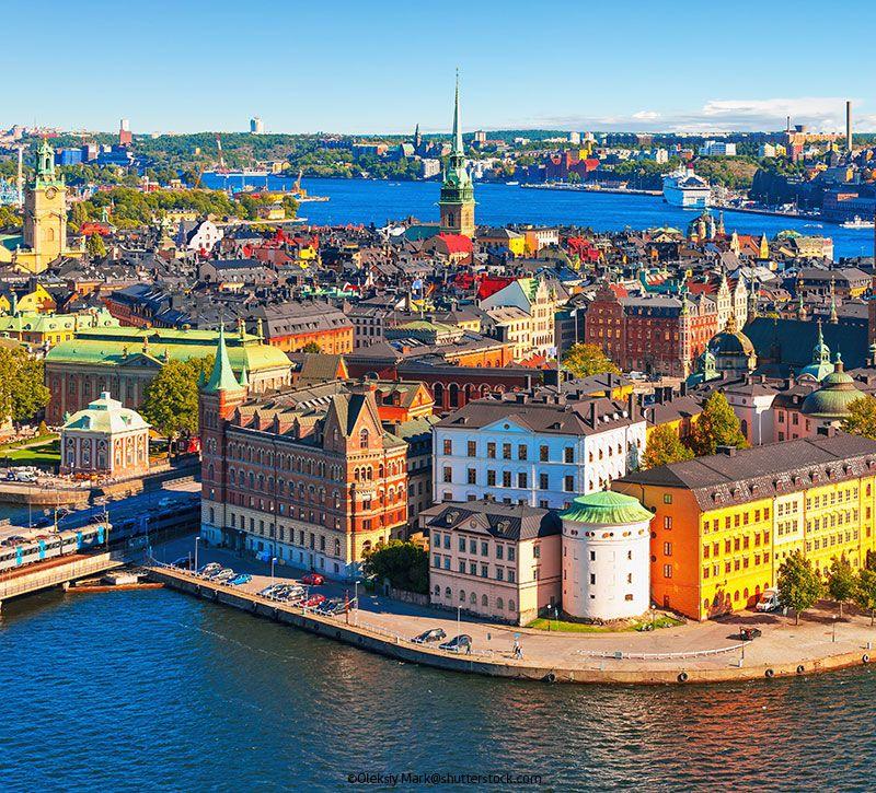 schweden stockholm berge und meer
