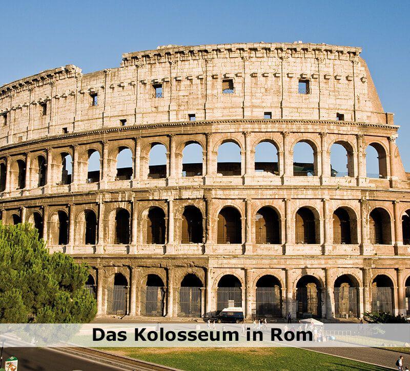 italien kolosseum berge und meer