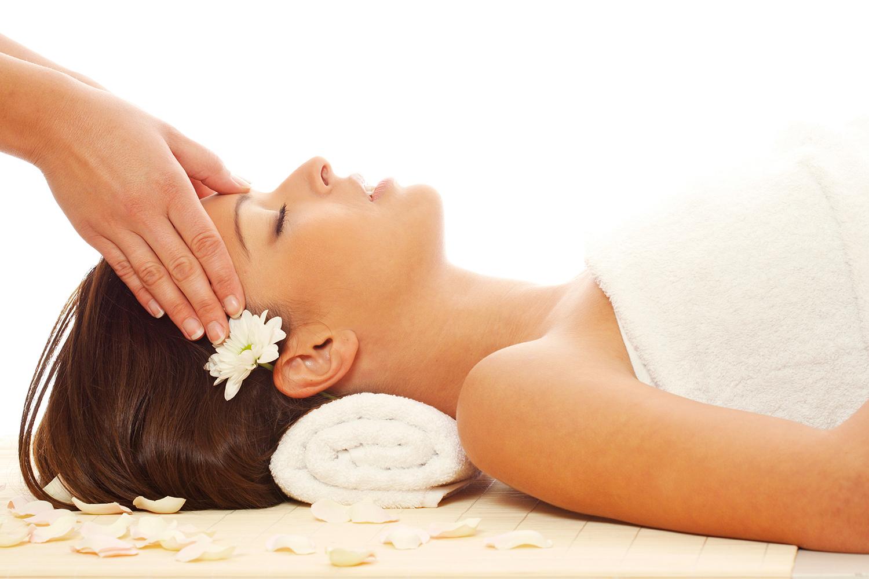 Massage, Frau berge und meer
