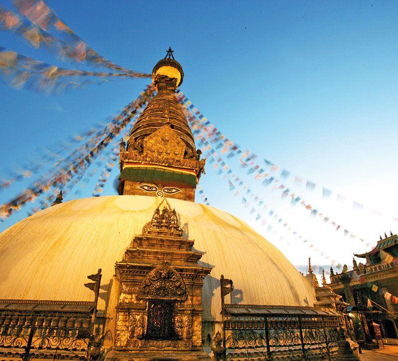 nepal kathmandu berge und meer