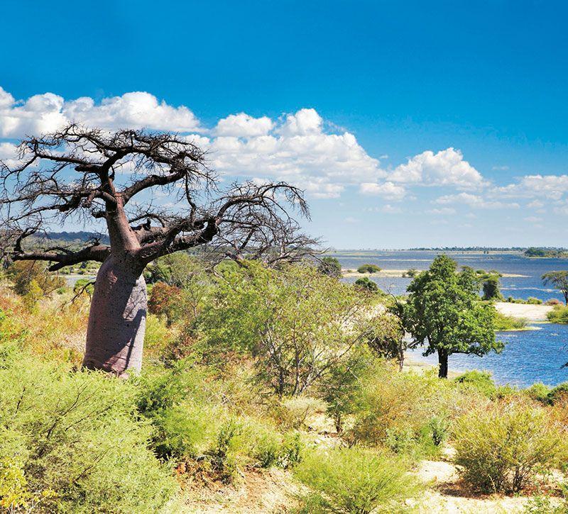 botswana kasane berge und meer