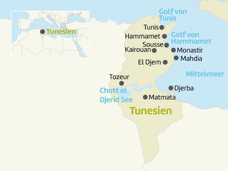 Tunesien Karte Welt.Tunesien Reisetipps Informationen Berge Meer