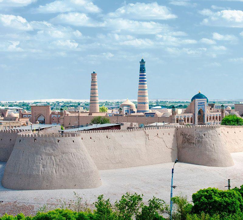 usbekistan chiva berge und meer