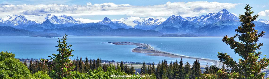 Alaska Kenai  berge und meer