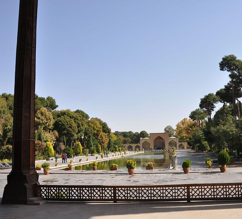 iran isfahan chehel sotun garten berge und meer