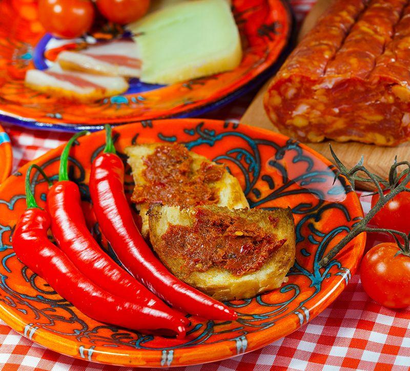 Italien Kalabrien Essen  berge und meer