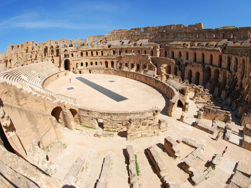 tunesien mahdia theater berge und meer