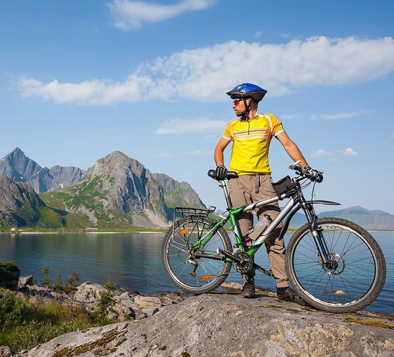 norwegen mountainbiking berge und meer