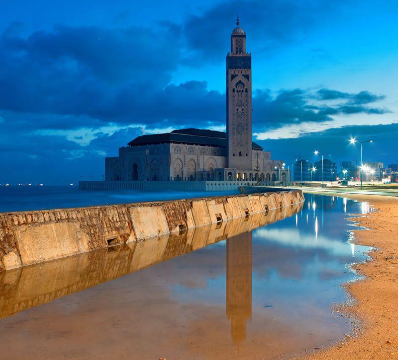 marokko  berge und meer