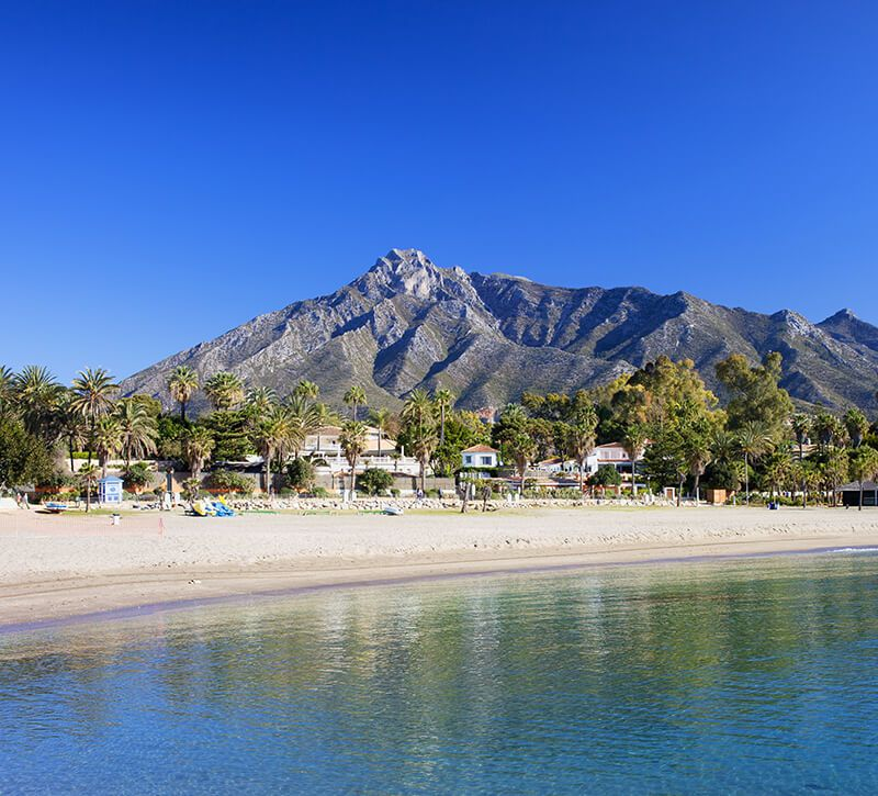 spanien costa del sol berge und meer