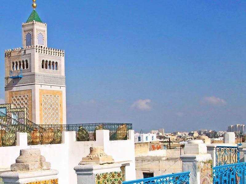 tunesien tunis mosaik berge und meer