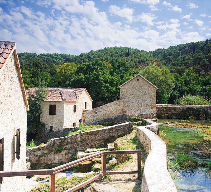 kroatien national park krka croatia phant berge und meer