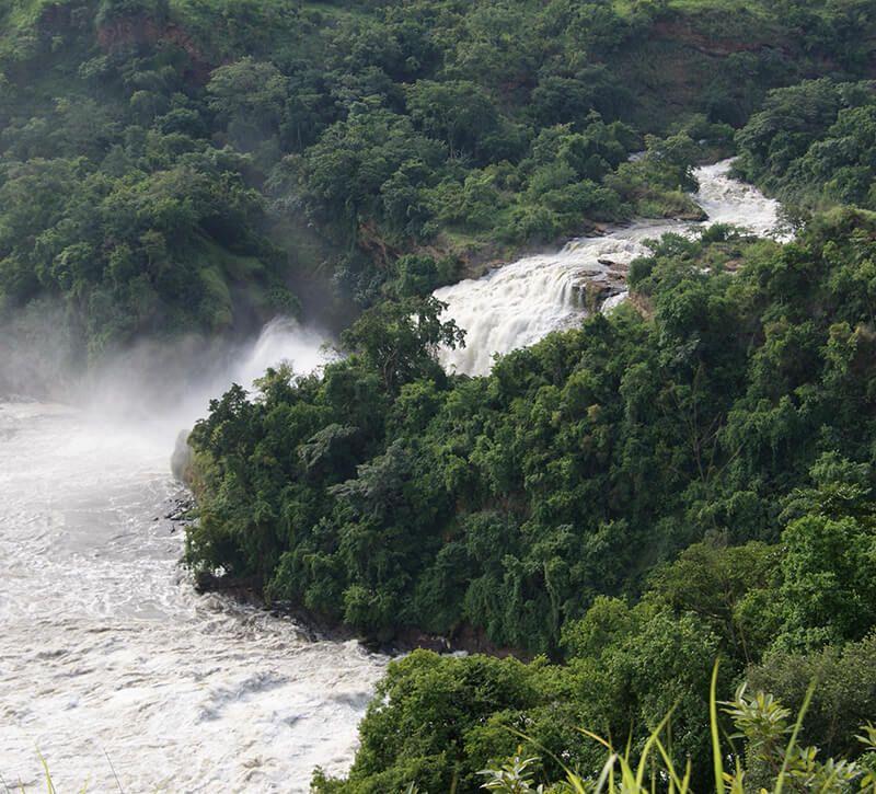 uganda wasserf lle berge und meer