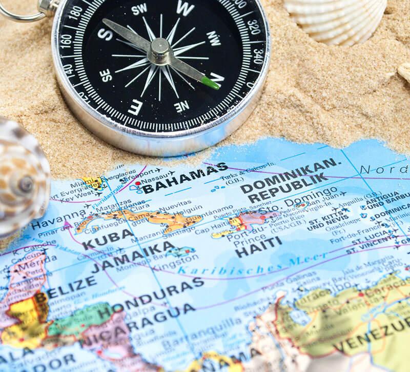 Kompass Reise Gewonnen