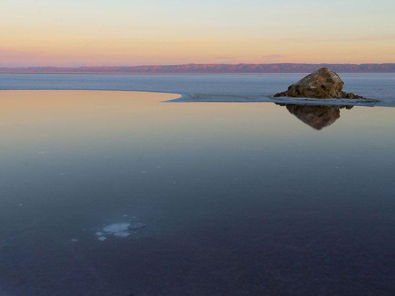 tunesien salzsee berge und meer