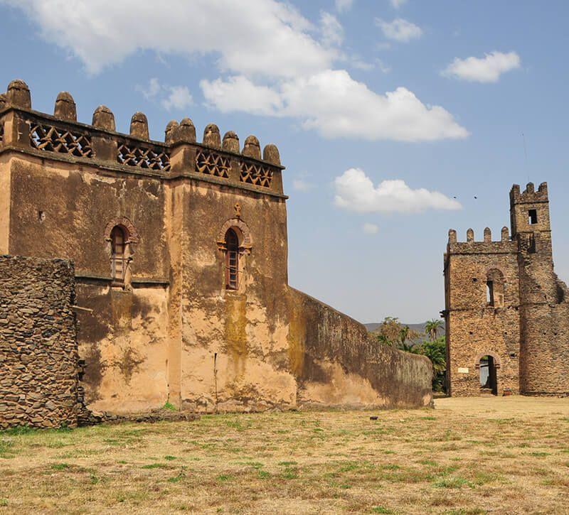 aethiopien gondar berge und meer