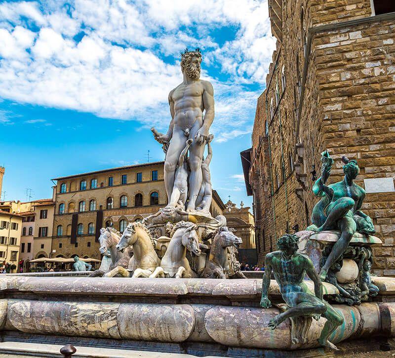 italien florenz berge und meer