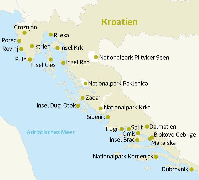 kroatien kroatien berge und meer