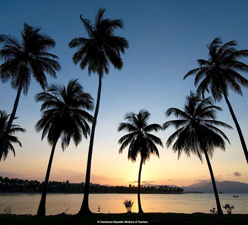dominikanische republik strand berge und meer