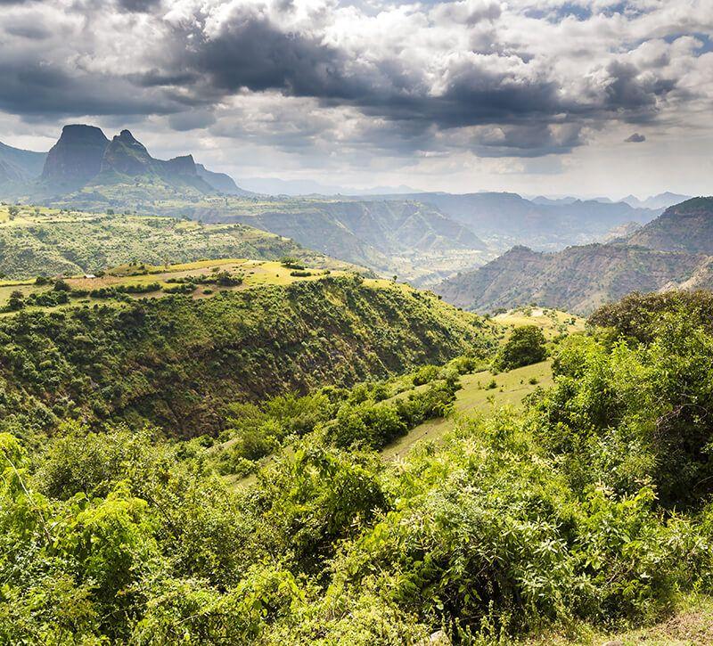 aethiopien simien np berge und meer