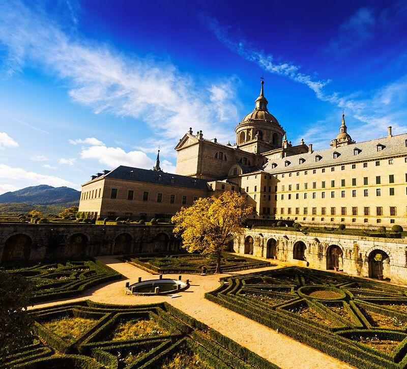 spanien madrid san lorenzo kloster berge und meer