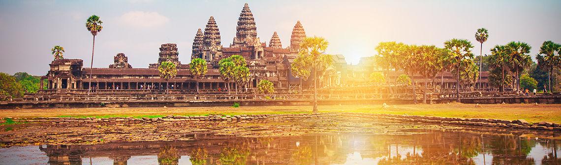 Kambodscha Angkor berge und meer
