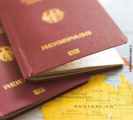 visa info Reisepass berge und meer