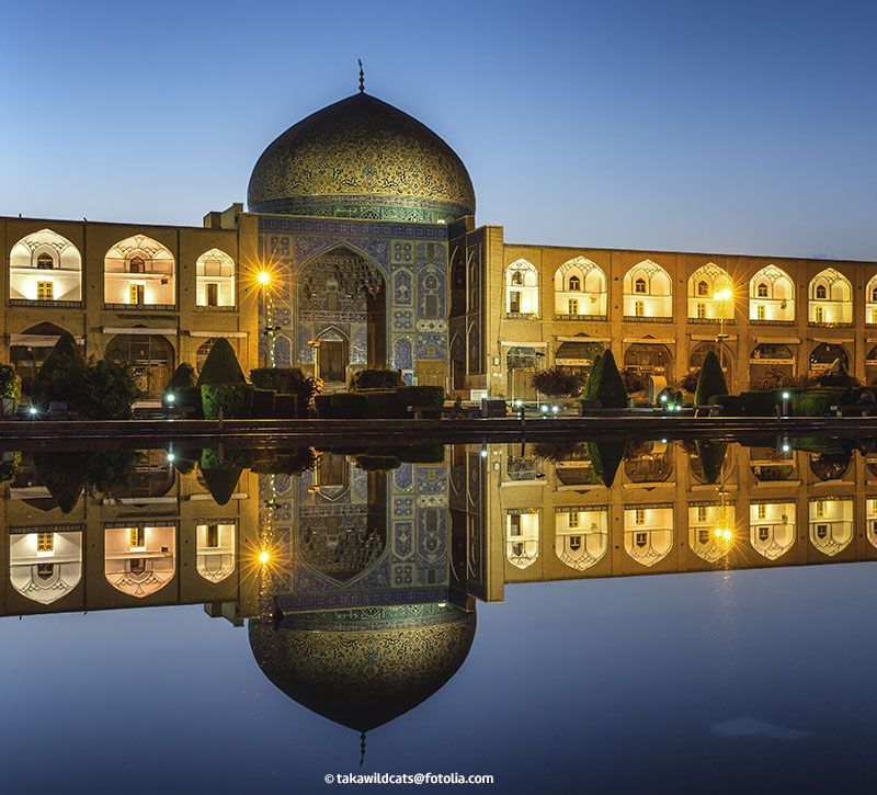 iran sheikh lotf allah mosque in isfahan berge und meer