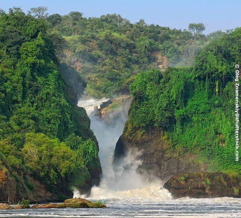 uganda uganda wasserfall berge und meer