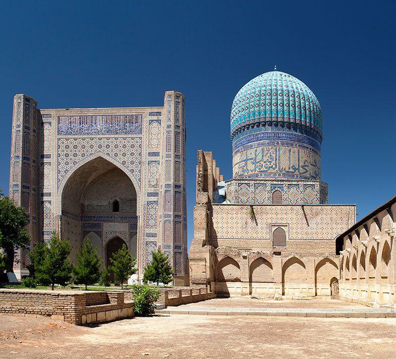 usbekistan bibi hanim berge und meer