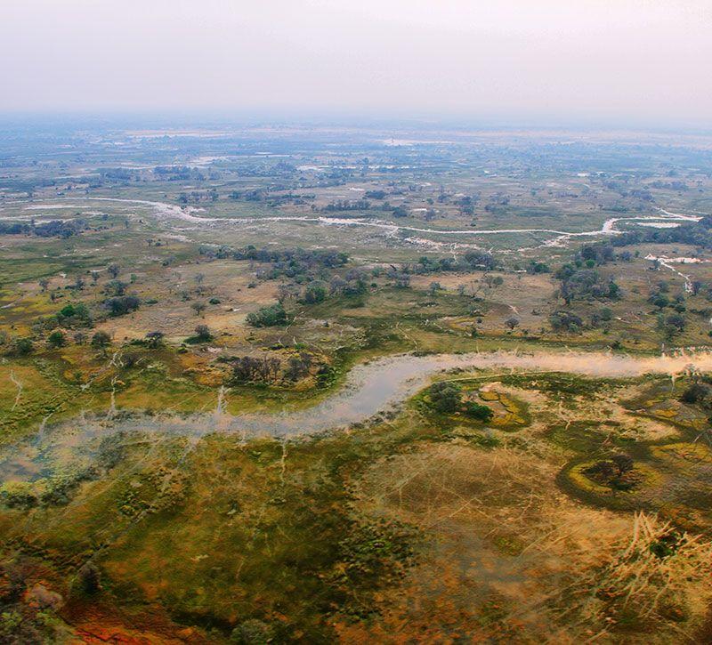 botswana maun berge und meer
