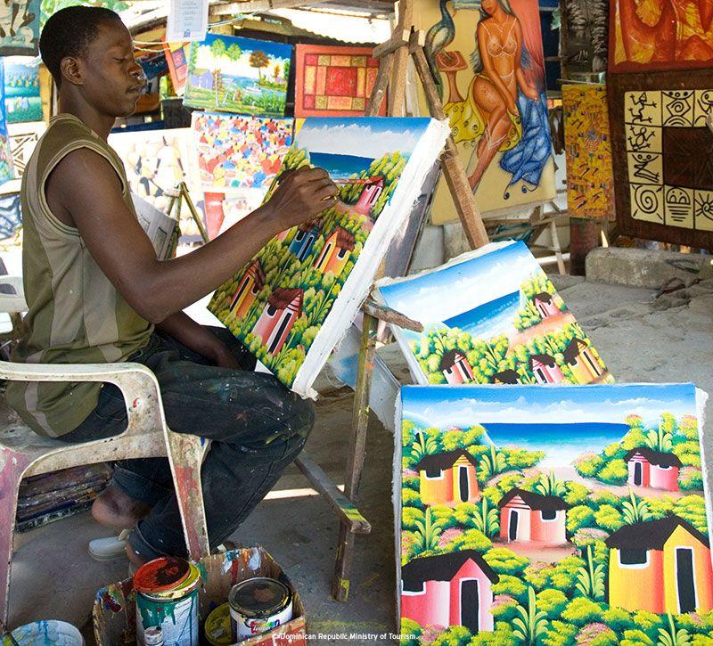 dominikanische republik maler berge und meer