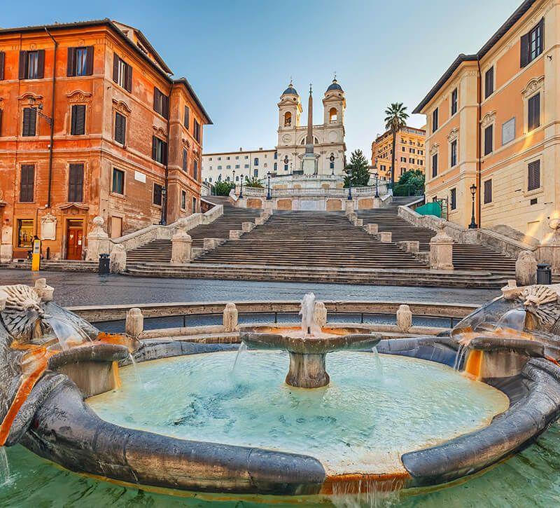 italien spanische treppe berge und meer